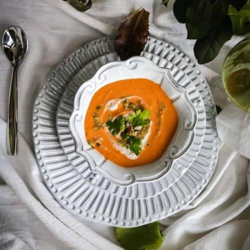 Vegan Curried Cauliflower Soup
