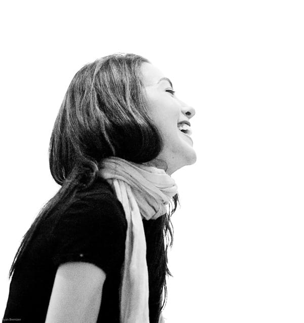 photo of a girl laughing