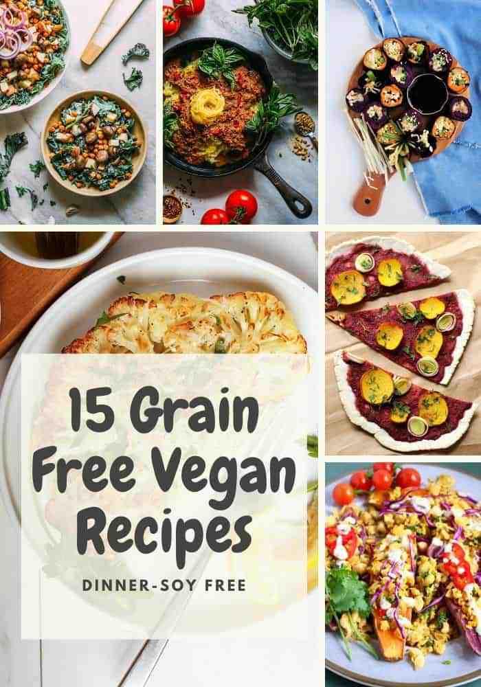 15 grain free vegan recipes for dinner