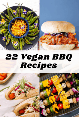 collage of vegan bbq recipes