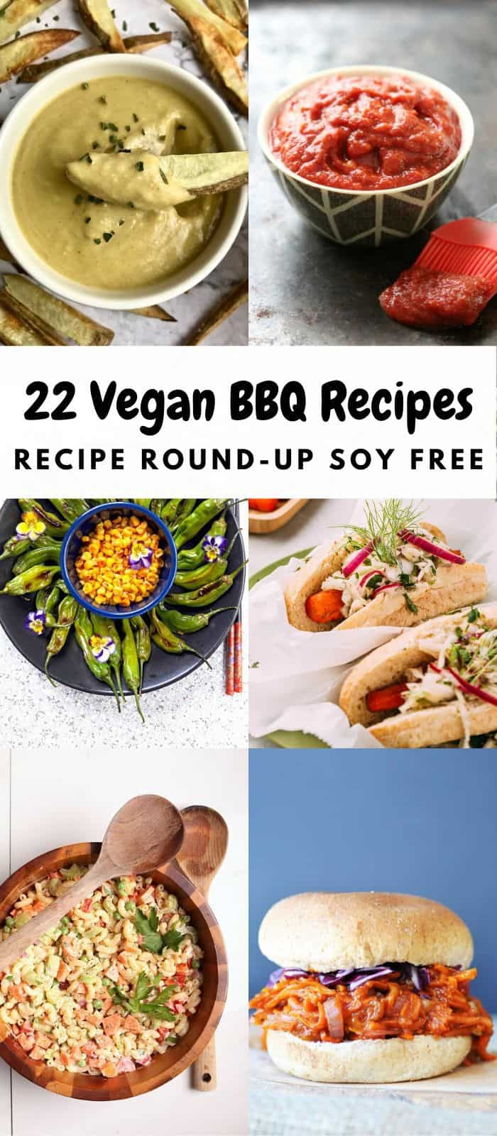 pictures of recipes from vegan bbq round up collage