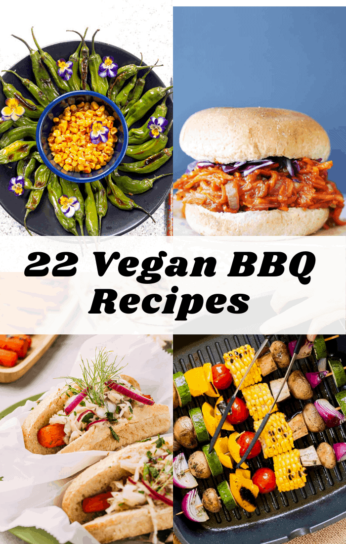 collage of vegan bbq recipes