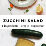 raw zucchini salad - 4 ingredients with cheese