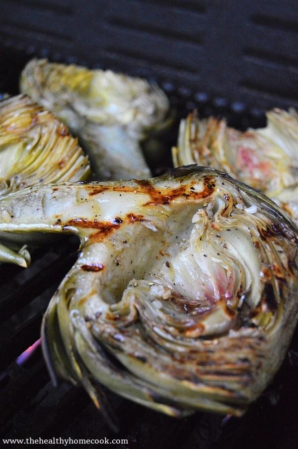 vegan bbq grilled artichoke hearts