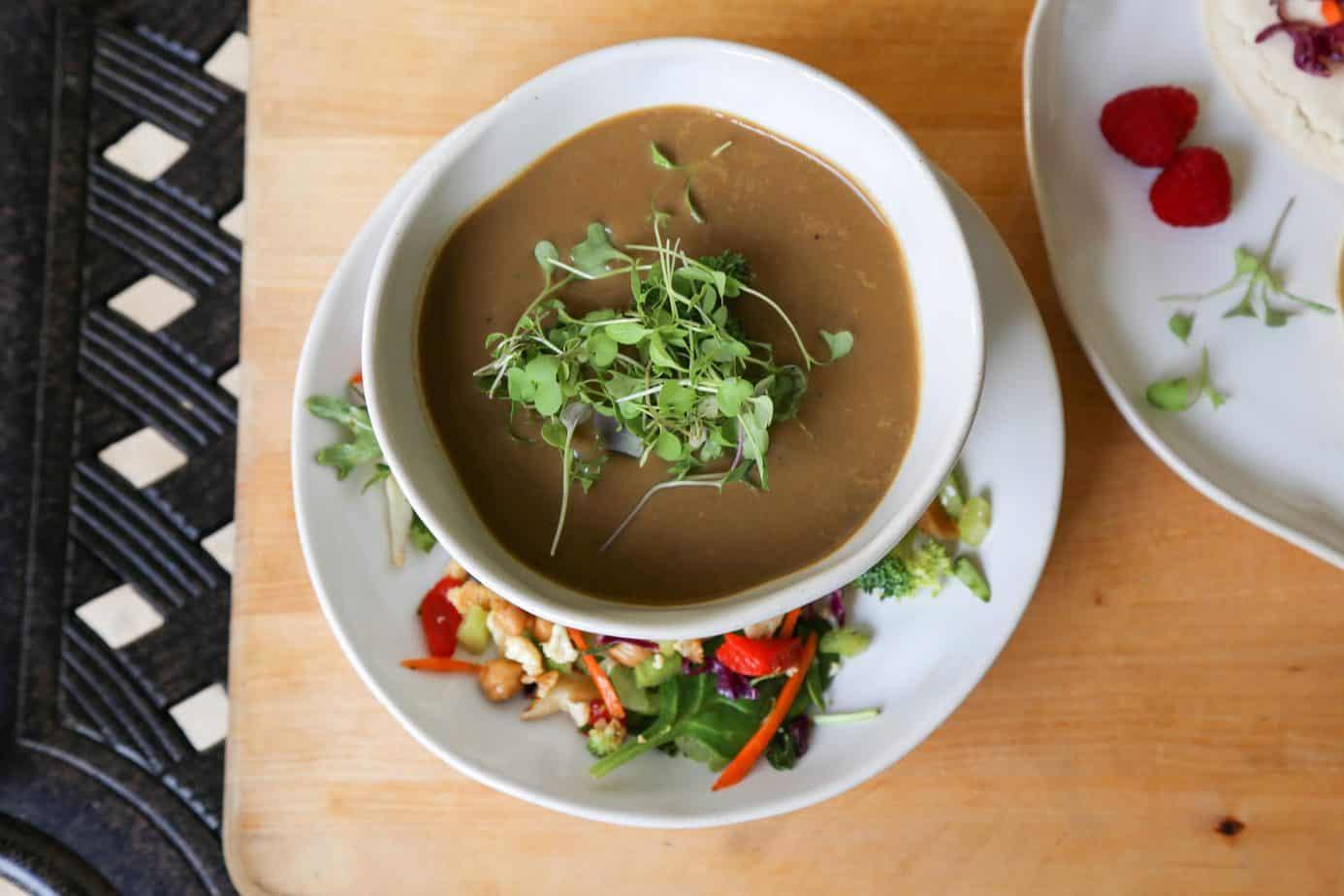 vegan mushroom soup, Vegan Mushroom Soup (Gluten-Free)