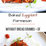 Baked eggplant Parmesan without breadcrumbs pin