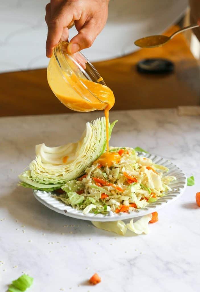 Carrot Ginger Miso Dressing, Carrot Ginger Miso Dressing – Vegan