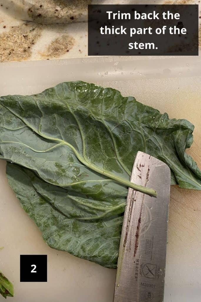 How to Make Collard Green Wraps, How to Make a Collard Green Wrap