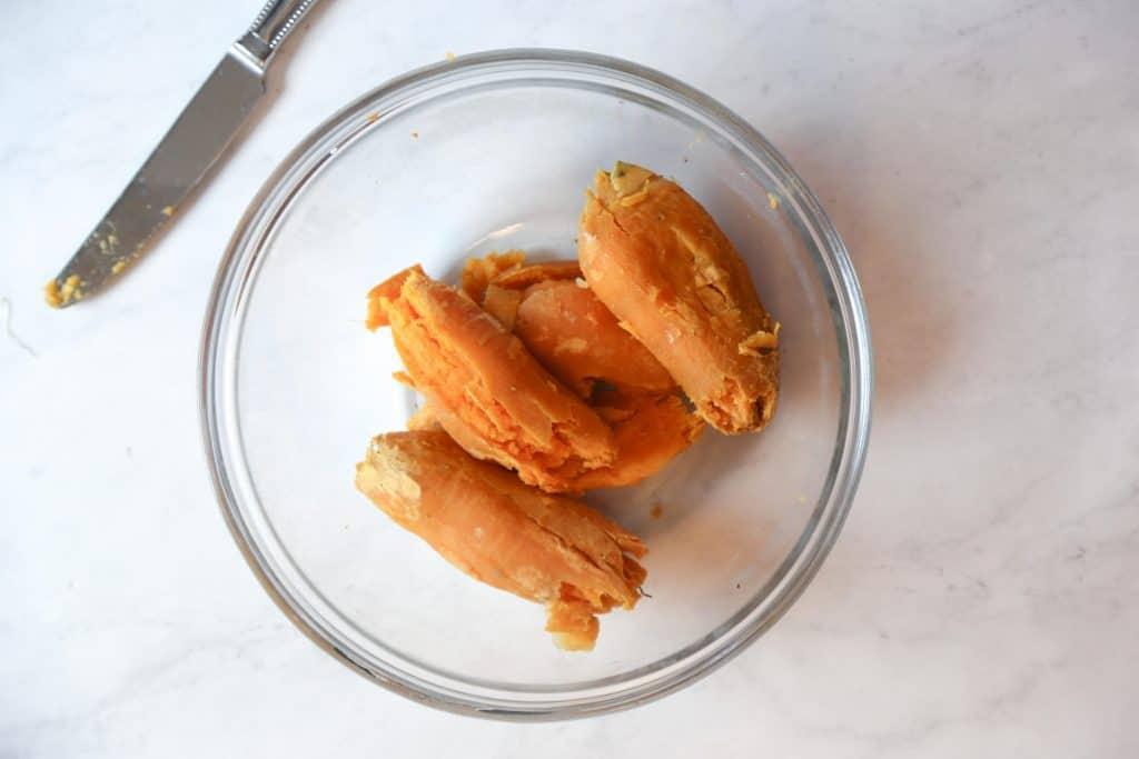 peel the sweet potato skins off