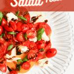 pin for Keto Caprese Salad